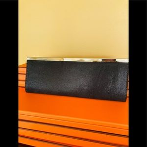 Costa Blanca Long Black Clutch